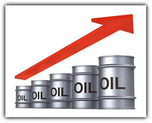 Increasing price of oil concept.