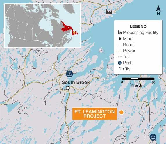 Point Leamington Deposit - Callinex Mines