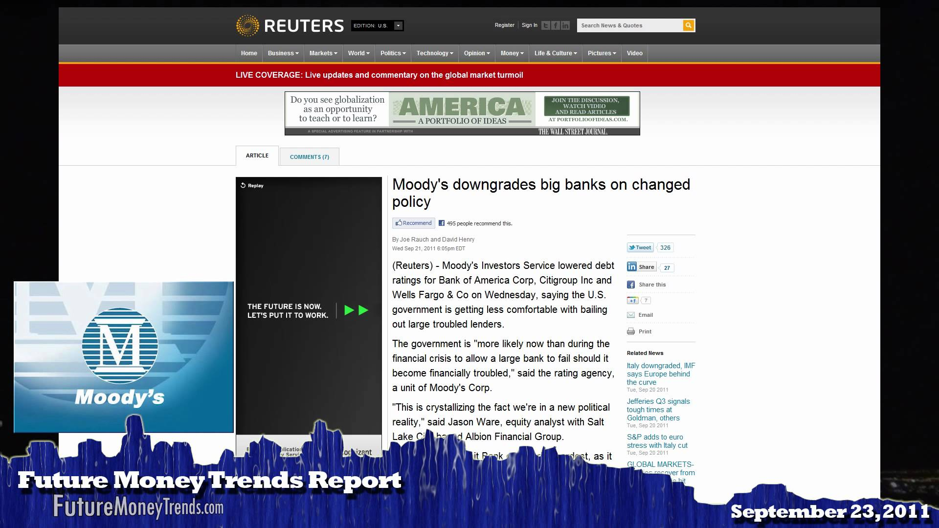 Future Money Trends Report Sep 23 2011 – Silver & Gold Plunge