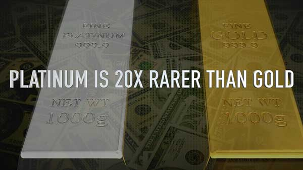 Platinum is 20x More Rare Than Gold #FMTDOC