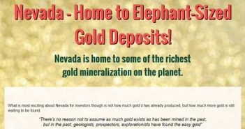 Nevada – Home to Elephant-Sized Gold Deposits!