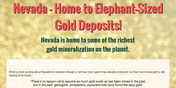 Nevada – Home to Elephant-Sized Gold Deposits!