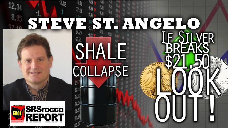 Silver Approaching Shortage & US Shale Collapsing, Debt & US Economic Crisis – Steve St. Angelo Interview